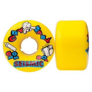 Seismic Cry Baby Wheels 60mm 80a Yellow