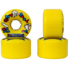 Seismic Cry Baby Wheels 64mm 80a Yellow