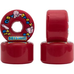 Seismic  Cry Baby Wheels 64mm 84a Red