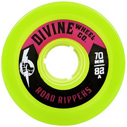Divine Urethane Co  Road Rippers wheels 70mm Lime 82a