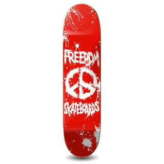 Freedom Skateboards Peace Paint Deck red