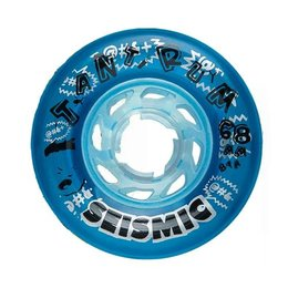 Seismic Tantrum Wheels 68mm 81A Crystal Clear Blue